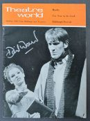FROM DAVID WARNER - AUTOGRAPHED THEATRE WORLD MAGAZINE