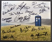 DOCTOR WHO - INCREDIBLE MULTI-SIGNED AUTOGRAPHED P
