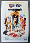 "ROGER MOORE - JAMES BOND 007 - SIGNED 12X8"" POSTER"