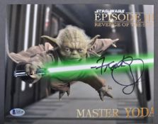 "STAR WARS - FRANK OZ - YODA - AUTOGRAPHED 8X10"" PH"
