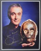 STAR WARS - ANTHONY DANIELS - C3PO AUTOGRAPHED PHOTOGRAPH