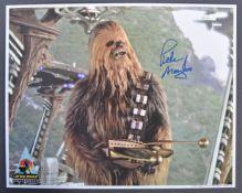 STAR WARS - PETER MAYHEW - CELEBRATION IV SIGNED PHOTO