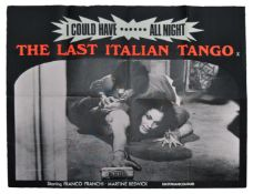 THE LAST ITALIAN TANGO - ORIGINAL SIGNED BRITISH QUAD POSTER