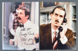 JOHN CLEESE & ANDREW SACHS - FAWLTY TOWERS - SIGNED PHOTOS
