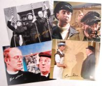 DADS ARMY - SELECTION OF SIGNED / AUTOGRAPHED PHOT
