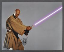 STAR WARS - SAMUEL L JACKSON AUTOGRAPHED MACE WINDU PHOTO