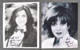 ANGELA GRANT COLLECTION - TWO SIGNED PHOTOGRAPHS