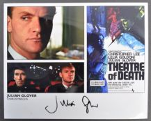 THEATRE OF DEATH - HORROR - JULIAN GLOVER SIGNED PHOTOGRAPH