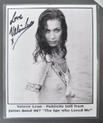 FROM THE COLLECTION OF VALERIE LEON - JAMES BOND PHOTO