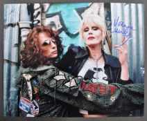 ABSOLUTELY FABULOUS - JOANNA LUMLEY & JENNIFER SAUNDERS SIGNED PHOTO
