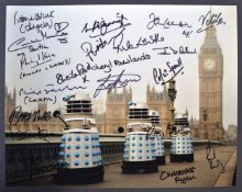DOCTOR WHO - RARE MULTI-SIGNED COLOUR PHOTOGRAPH 14x11""