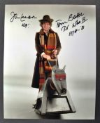 "DOCTOR WHO - TOM BAKER & JOHN LEESON SIGNED 8X10"" PHOTO"