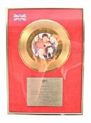 RIK MAYALL - PERSONALLY OWNED GOLD DISC RECORD ' L