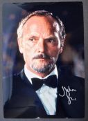 "JAMES BOND - JULIAN GLOVER AUTOGRAPHED 8X12"" PHOTOGRAPH"