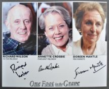 ONE FOOT IN THE GRAVE - MULTI-SIGNED CAST PHOTOGRAPH