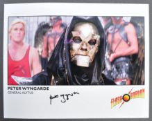 PETER WYNGARDE - FLASH GORDON - AUTOGRAPHED 8X10""