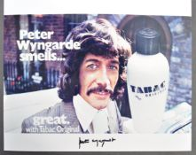 PETER WYNGARDE - TABAC ADVERT - AUTOGRAPHED 8X10""