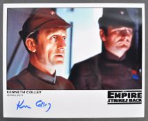 STAR WARS THE EMPIRE STRIKES BACK - KEN COLLEY SIGNED PHOTO