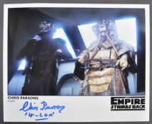 STAR WARS THE EMPIRE STRIKES BACK - CHRIS PARSONS SIGNED PHOTO