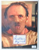 ANTHONY HOPKINS - SILENCE OF THE LAMBS - IMPRESSIVE AUTOGRAPH