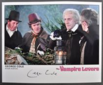 HAMMER HORROR - GEORGE COLE - VAMPIRE LOVERS SIGNED PHOTO