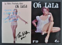 BACK TO THE FUTURE - DUAL SIGNED 'OH LALA ' PROP MAGAZINE