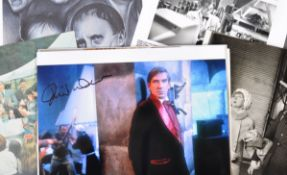 FROM DAVID WARNER - SIGNED PHOTO & COLLECTION OF LOBBY CARDS