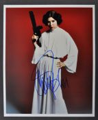 "CARRIE FISHER - STAR WARS - INCREDIBLE AUTOGRAPHED 8X10"" PHOTO"