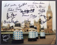 DOCTOR WHO - RARE MULTI-SIGNED COLOUR PHOTOGRAPH