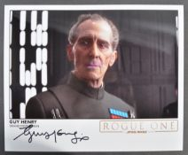 STAR WARS - ROGUE ONE - GUY HENRY SIGNED PHOTO
