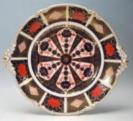 ROYAL CROWN DERBY OLD IMARI CHARGER PLATE / SERVING PLATE - MAKERS MARK 1128 TO THE UNDERSIDE