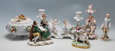 COLLECTION OF 20TH CENTURY GERMAN / CONTINENTAL PORCELAIN