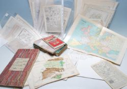COLLECTION OF ANTIQUE ENGLISH COUNTY MAPS