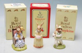 THREE BOXED ROYAL DOULTON BUNNYKINS FIGURINES