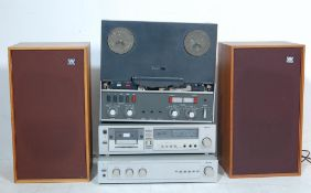 COLLECTION OF RETRO VINTAGE STEREO AUDIO EQUIPMENT