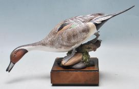 1970'S ROYAL WORCESTER CERAMIC FIGURINE OF A BIRD BY RONALD VAN RUYCKEVELT