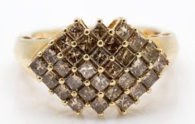 A 9ct Gold and Diamond Cluster Ring