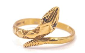A 9ct Gold Snake Ring