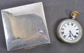 HMS H44 WWII BRITISH SUBMARINE HALLMARKED SILVER BOX & WATCH