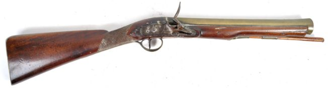 RARE 18TH CENTURY FLINTLOCK BLUNDERBUSS BY SANDERS OF LONDON