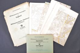 ORIGINAL WWII GERMAN BOMBING MAPS OF BRISTOL, BATH & SOUTH ENGLAND