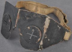 ORIGINAL WWII CIVIL DEFENCE ANTI-FLAK FOLDING SPLINTER GOGGLES