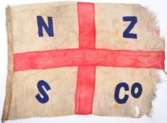 RARE WWII NEW ZEALAND SHIPPING CO MS RANGITANE SHIP'S FLAG