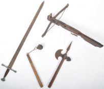 COLLECTION OF ASSORTED 20TH CENTURY RE-ENACTMENT WEAPONRY