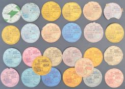 LARGE COLLECTION OF 1930S - 1950S TAX DISCS FOR THE SAME VEHICLE