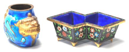 TWO VINTAGE 20TH CENTURY CHINESE CLOISONNÉ ENAMELL