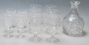 COLLECTION OF 20TH CENTURY CRYSTAL BRANDY AND SHER