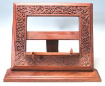 A RETRO LATE 20TH CENTURY INDIAN TEAK WOOD MENU HO