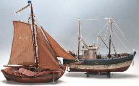 VINTAGE SCRATCH BUILT TOY SAILING BOATS