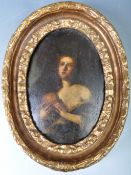 RARE 17TH CNTURY ITALIAN OIL OF PENITINET MARY MAGDALENE